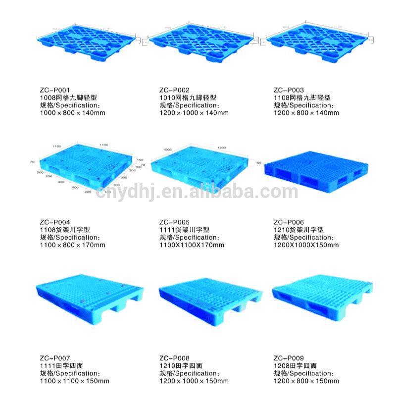 types de palettes plastiques
